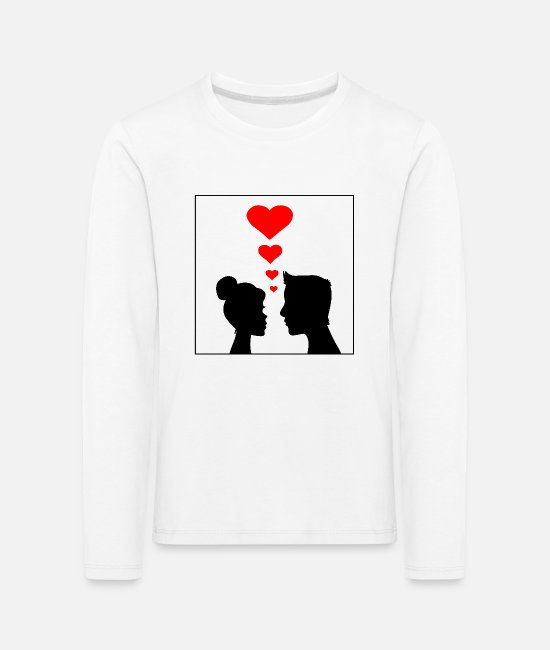 Heart Long-Sleeved Shirts - Pair - Kids' Premium Longsleeve Shirt white