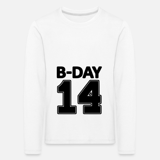 Birthday Long sleeve shirts - 14 number fourteen / birthday number number jersey - Kids' Premium Longsleeve Shirt white