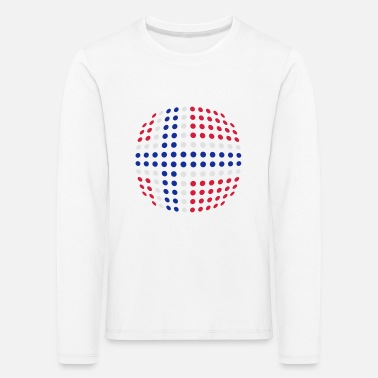 Norway flag (Dotted) - Kids' Premium Longsleeve Shirt
