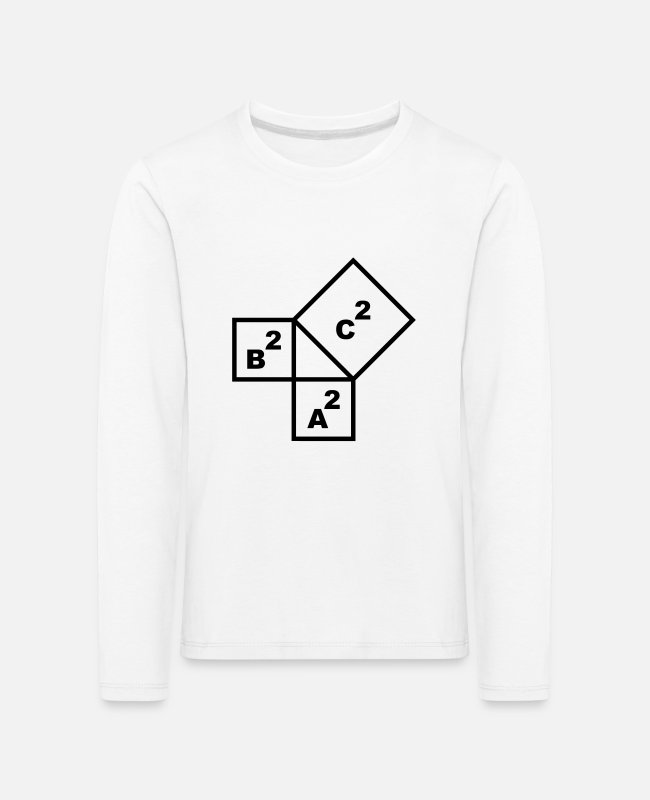 Professor Long-Sleeved Shirts - Math symbol - the Pythagorean theorem - Kids' Premium Longsleeve Shirt white
