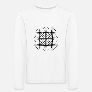 Symmetry Mirroring Abstract lines strokes doodle symmetry - Kids' Premium Longsleeve Shirt