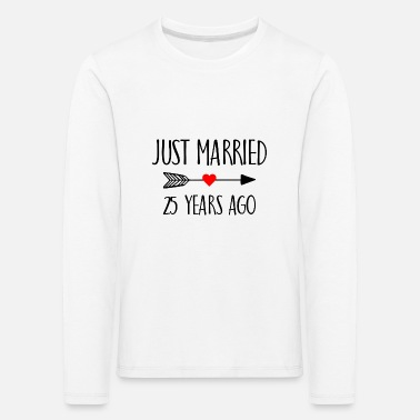 Bachelorette Just Married 25 years ago Married gift - Kids' Premium Longsleeve Shirt