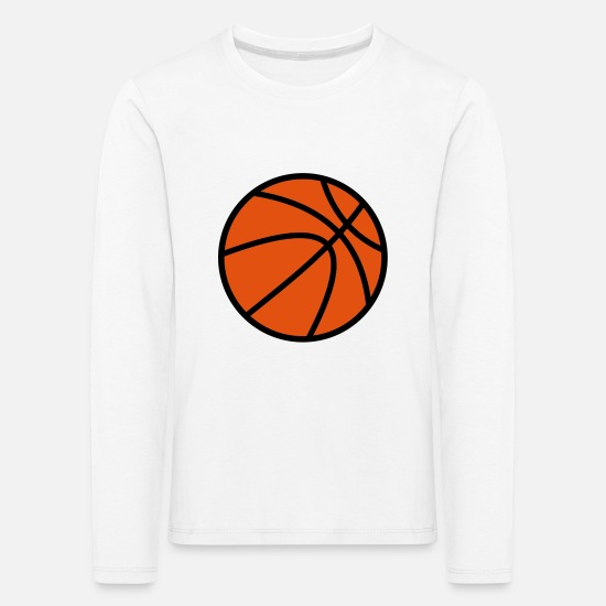 Basket Long sleeve shirts - Basketball - Kids' Premium Longsleeve Shirt white