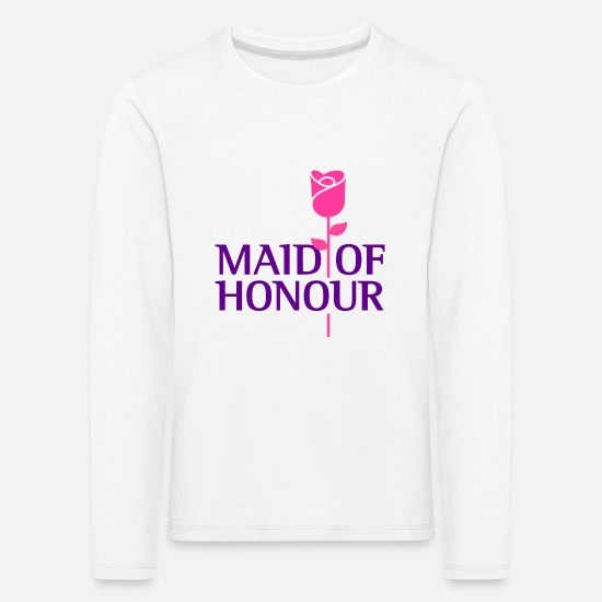 Alcohol Long sleeve shirts - The maid of honor - Kids' Premium Longsleeve Shirt white