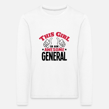Girls Generation this girl is an awesome general 2col - Kids' Premium Longsleeve Shirt