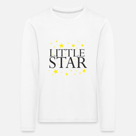 Birthday Long Sleeve Shirts - Little star star baby sayings gift idea - Kids' Premium Longsleeve Shirt white