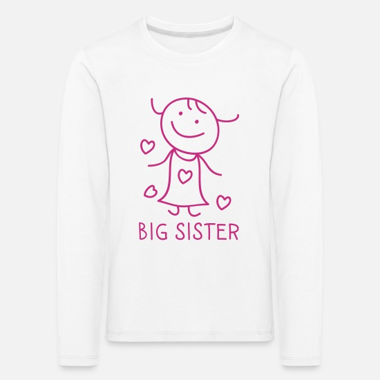 Big Sister Long sleeve shirts - Big Sister - Kids' Premium Longsleeve Shirt white
