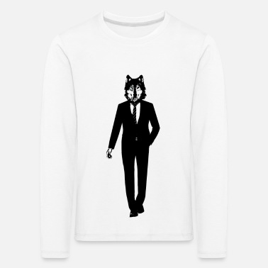 Wolf in a suit - Kids' Premium Longsleeve Shirt