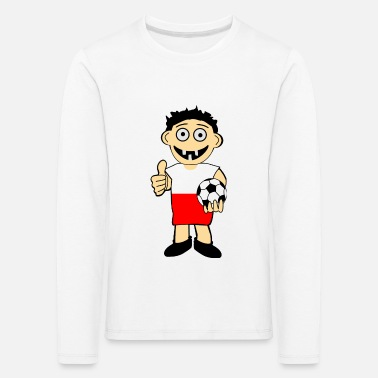 Football Game Polish boy - Kids' Premium Longsleeve Shirt