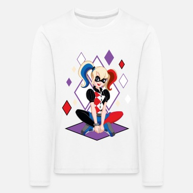 Comics DC Super Hero Girls Harley Quinn - T-shirt manches longues premium Enfant