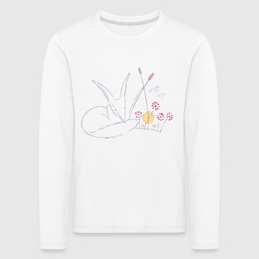 The Little Prince Fox In The Rose Garden - Kids' Premium Longsleeve Shirt