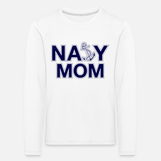 Mummy Long sleeve shirts - Navy Mom Anchor - Kids' Premium Longsleeve Shirt white