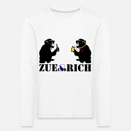 Alcohol Long sleeve shirts - zue and rich - Kids' Premium Longsleeve Shirt white