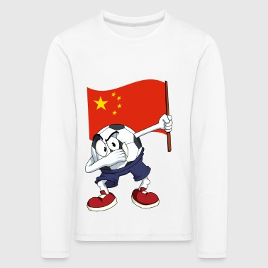 China deppen Football - Kinderen Premium shirt met lange mouwen