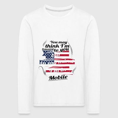 THERAPIE URLAUB AMERICA USA TRAVEL Mobile - Kinder Premium Langarmshirt