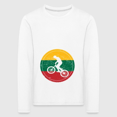Bike bmx love biking Lithuania - Kids' Premium Longsleeve Shirt