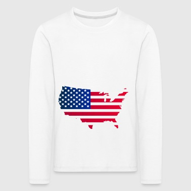 United States map - Kids' Premium Longsleeve Shirt
