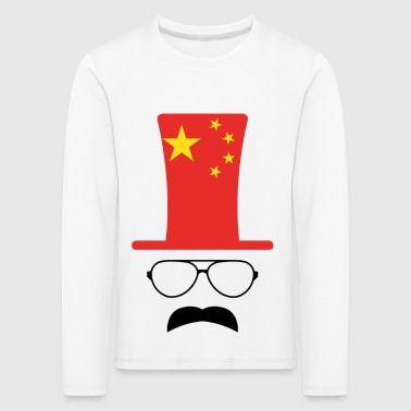 China Chinese Flag Football Hipster - Kids' Premium Longsleeve Shirt
