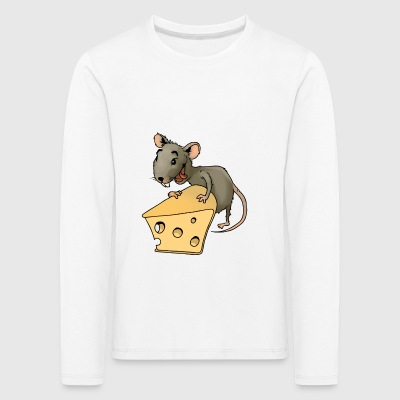 Fiese mouse rodent mouse vermin rodent cheese - Kids' Premium Longsleeve Shirt