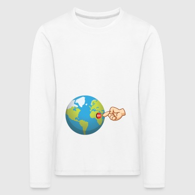 Reset the world! Reset the world! restart - Kids' Premium Longsleeve Shirt