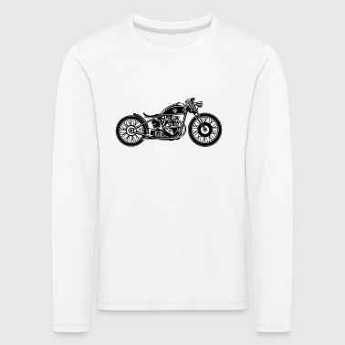 Chopper / Bobber motorcycle 09_black - Kids' Premium Longsleeve Shirt