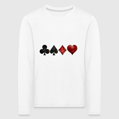 Cross pik check heart - Kids' Premium Longsleeve Shirt