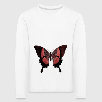 butterfly - Premium langermet T-skjorte for barn