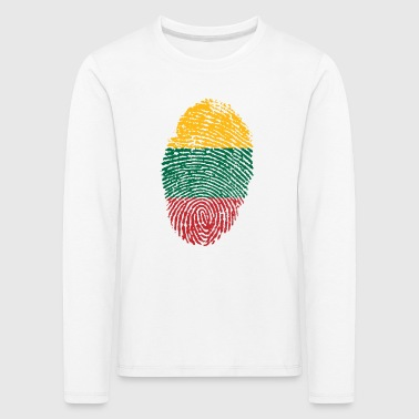 Fingerprint i love Lithuania Lithuania - Kids' Premium Longsleeve Shirt