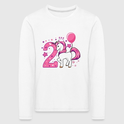 second birthday girl, 2nd birthday gift - Kids' Premium Longsleeve Shirt