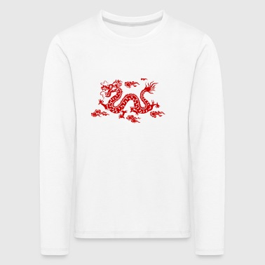 Dragon Traditionele Chinese - Kinderen Premium shirt met lange mouwen