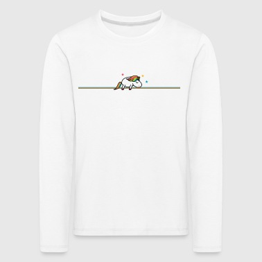 Sleeping Unicorn (b) - Långärmad premium-T-shirt barn