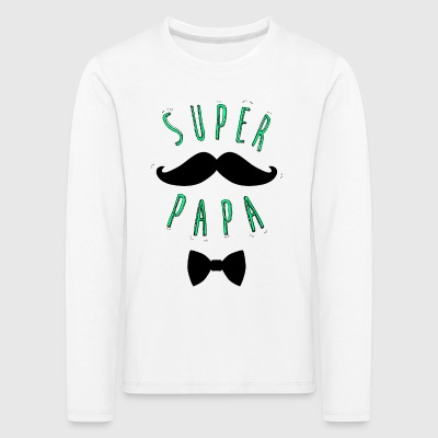 Super mustache dad - Kids' Premium Longsleeve Shirt