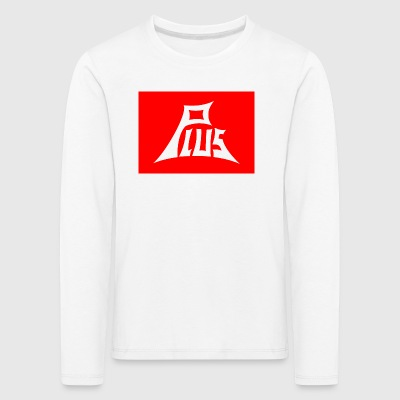 Plus red white - Kinder Premium Langarmshirt