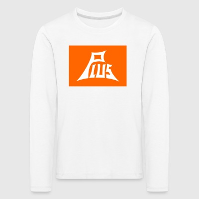 Plus orange white - Kinder Premium Langarmshirt