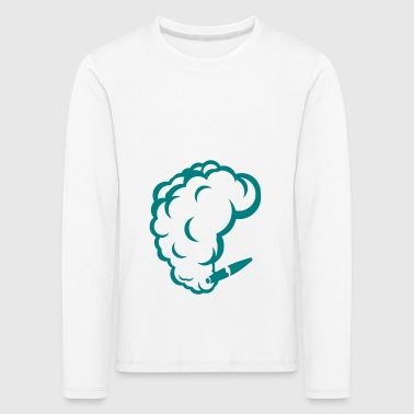 smoking cigar cigarette smoke drawing 1710 - Kids' Premium Longsleeve Shirt