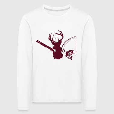 deer hunting fishing - Kids' Premium Longsleeve Shirt
