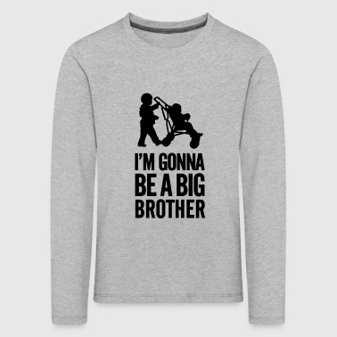 I'm gonna be a big brother baby car - Camiseta de manga larga premium niño