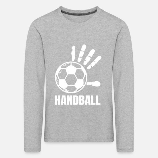 World Championship Long Sleeve Shirts - Handball Handballer Handball Player Gift - Kids' Premium Longsleeve Shirt heather grey