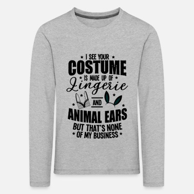 Animal Underwear Halloween Sexy Ears Underwear Costume Gifts - Kids' Premium Longsleeve Shirt