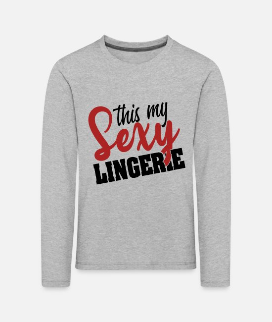 Meme Long-Sleeved Shirts - Sexy Underwear Halloween Ears Costume Gifts - Kids' Premium Longsleeve Shirt heather grey