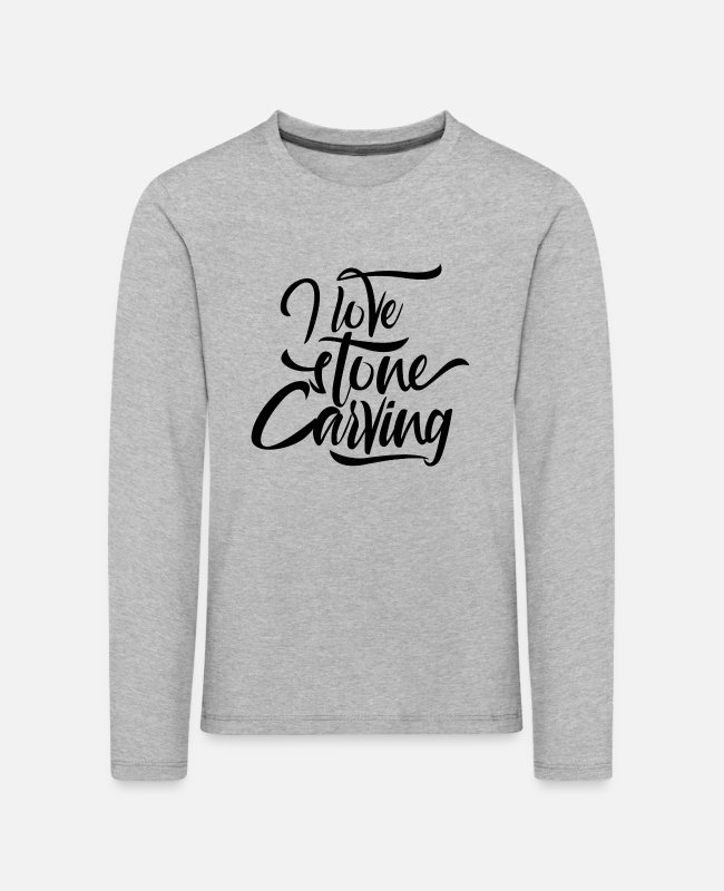 Occupation Long-Sleeved Shirts - Stone carving stones stonecutter stone sculptor - Kids' Premium Longsleeve Shirt heather grey
