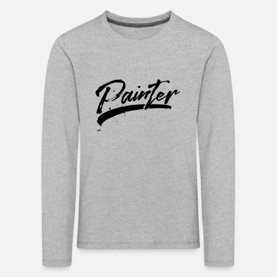 Gift Idea Long sleeve shirts - painter - Kids' Premium Longsleeve Shirt heather grey