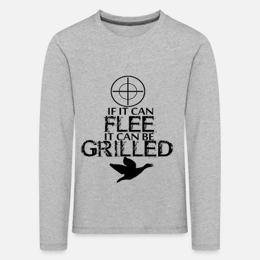 Flee If it can flee it can be grilled - Kids' Premium Longsleeve Shirt