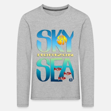 Sea And Sky - Kinderen premium longsleeve
