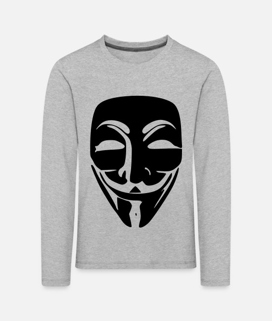Acta Long-Sleeved Shirts - Anonymous - Kids' Premium Longsleeve Shirt heather grey