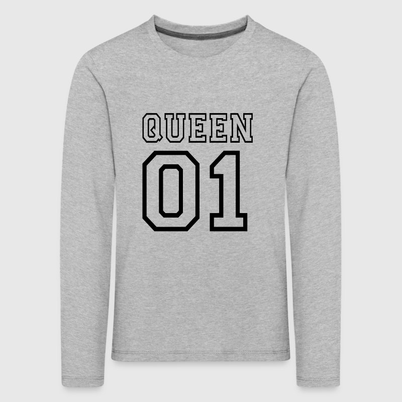 quePARTNERSHIRT - Queen 01 - Premium langermet T-skjorte for barn