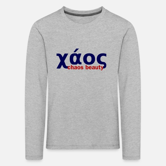 Greek Long sleeve shirts - chaos in greek limited - Kids' Premium Longsleeve Shirt heather grey