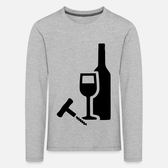 Wine Long Sleeve Shirts - Wine - Kids' Premium Longsleeve Shirt heather grey