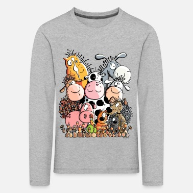 Funny Farm Animals - Kids' Premium Longsleeve Shirt