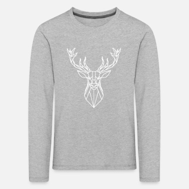 Stag Deer stag head white - Kids' Premium Longsleeve Shirt